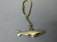 Massiv Messing Schlüsselanhänger Hai 6cm