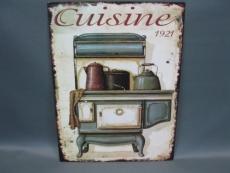Nostalgisches Blechschild, Landhausstil, Küche 25 cm x 33 cm Cuisine