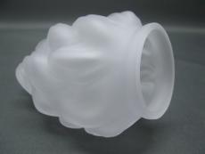 Lampenschirm Glas 16 cm x Durchmesser 12 cm satiniert weiß Fackel Ersatzglas