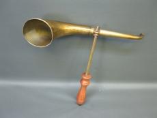 Messing Stethoskop Hörrohr Hearing Pipe Hörverstärker 38 cm mit Griff