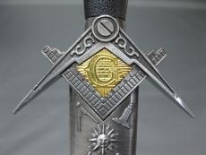Edler Brieföffner Freimaurer Masonic Templer Tempelritter 40 cm 350 Gramm