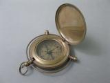 Brünierter Messingkompass 8cm mit Sprungdeckel