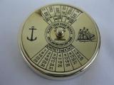 Hundertjähriger Kalender aus Messing für die Hosentasche 5cm