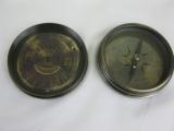 Brünierter Messingkompass 8cm mit Dauerkalender