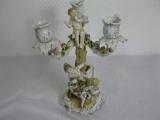 1 Luxus Porzellan Leuchter, Kandelaber 25cm