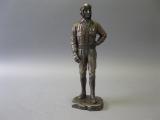 Figur Soldat zweiter Weltkrieg bronziert 29 cm hoch
