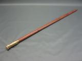 Gehstock aus Edelholz mit Messinggriff und Feuerzeug