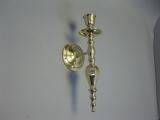 Großer Messing Leuchter, Wandkerzenleuchter, Kerzenleuchter 38cm