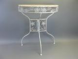 Wandtisch aus Eisen in cremefarbe 69cm x 36cm