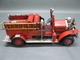 Alte Feuerwehr Blechauto 46 cm
