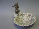 Seifenschale Engel Porzellan und Bronze