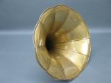 Ersatzteil Messingtrichter für Trichtergrammophon Ersatztrichter Messing 38 cm