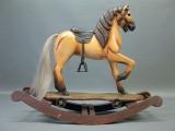 Holzpferd Schaukelpferd Karusellpferd Pferd 60 x 50 x 22 cm