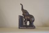 Buchstütze Elefant Gusseisen 15 cm Antikstil