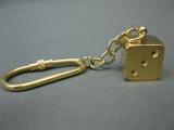 Schlüsselanhänger Würfel Glückswürfel Messing 1,5 cm Maritime Dekoration