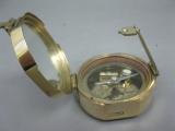 Brünierter Messing Kompass 75 mm Schiffskompass mit Holzbox