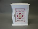 Vintage Landhaus Hausapotheke Apotheke Wandschrank 30 cm x 24 cm x 13 cm