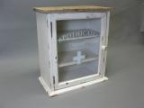 Vintage-Hausapotheke-Apotheke-Wandschrank-36-cm-x-32-cm-x-18-cm-Giftschrank