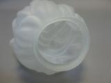 Lampenschirm Glas 20 cm x Durchmesser 12 cm satiniert weiß Fackel Ersatzglas