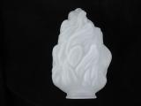 Lampenschirm Glas 25 cm Durchmesser 15 cm satiniert weiß Fackel Glasschirm