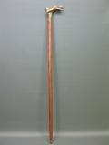 Holz Gehstock Bronze Griff Akt Dame Spazierstock 96 cm Walking Stick