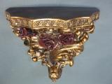 Goldene Venezianische Wandkonsole 16 cm Regal Konsole Antikstil Wandpodest