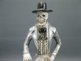 Figur Gothic Knochenmann Gerippe Skelett 52 cm