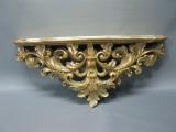 Altgoldene Wandkonsole 45 cm Regal Konsole Konsole Wandpodest Antikstil