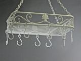 Küchenhänger Baldachin Speckhaken Eisen Antikstil 43cm x 26cm