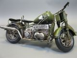 Blechmodell Militär Motorrad Blech Spielzeug 33cm