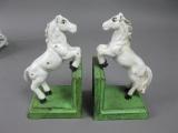 Buchstützen Pferd im Set aus Gusseisen 15 cm