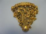 Goldene Wandkonsole 23 cm Regal Konsole durchbrochen Antikstil