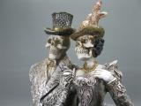 Figur Gothic Paar Gerippe Skelett 32 cm