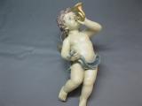 Schwebeengel Engel Putto 45 cm Deko Figur Engel mit Horn