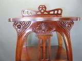 Echtholz Blumentisch Beistelltisch Wandkonsole 87 cm hoch x 40 cm Telefontisch