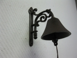 Glocke Türglocke rustikal Door Bell Gusseisen 18 cm
