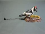 Gusseisen Türklopfer Specht Buntspecht 17 cm farblich gefasst